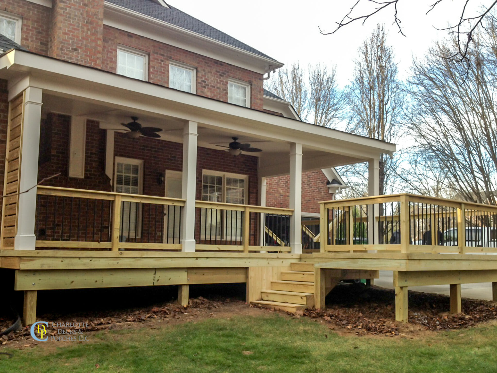 Covered porch photos charlotte decks and porches llc for Covered porch