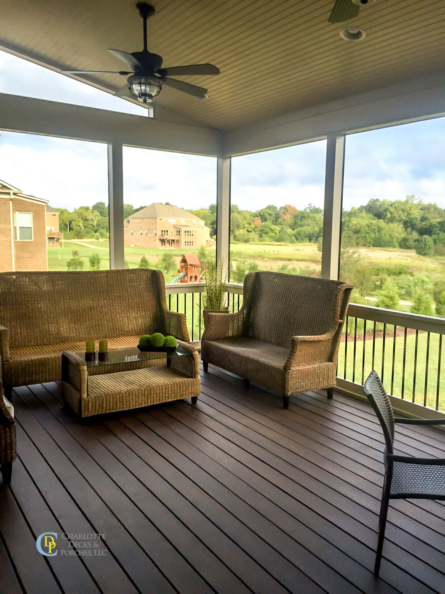 screened porch photos charlotte decks and porches llc. Black Bedroom Furniture Sets. Home Design Ideas